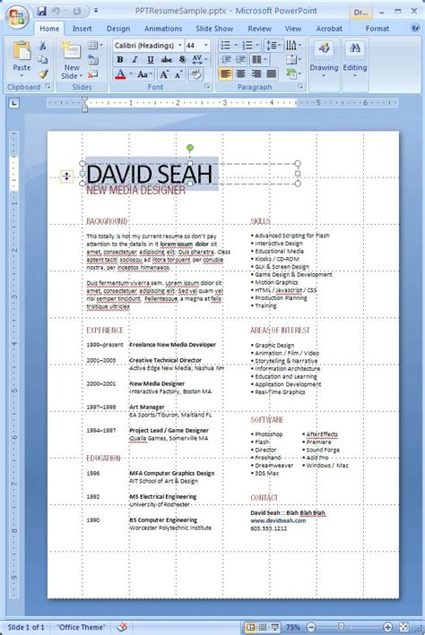 Resume Tips Layout Powerpoint Resume Layout Tips Tips