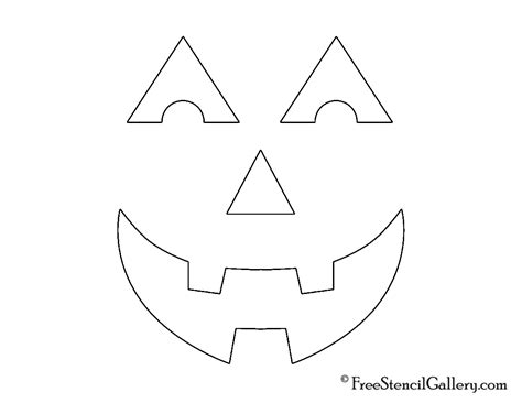 simple printable jack o lantern patterns jack o lantern face 23 free stencil gallery