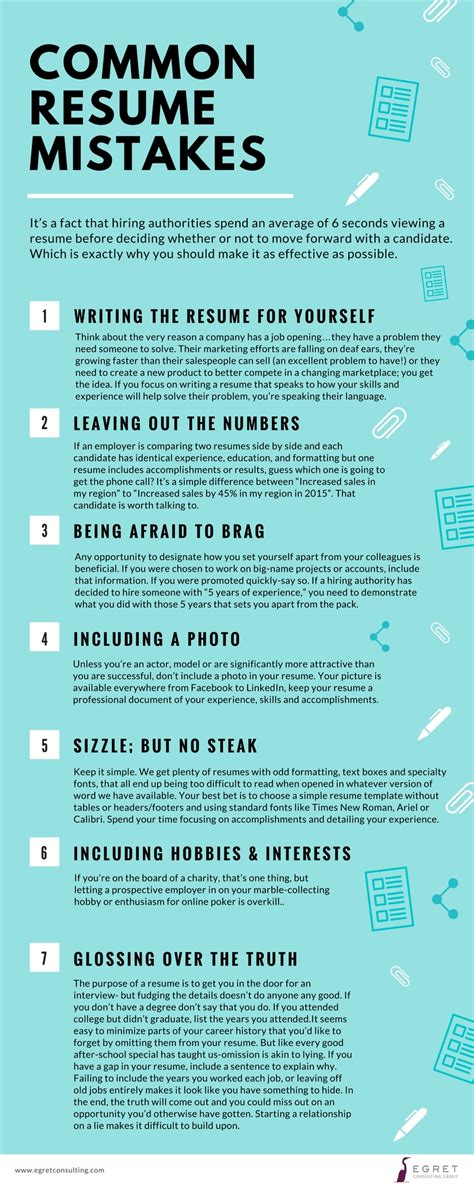 resume mistakes to avoid retailing from a to z by joel 10 useful search infographics for