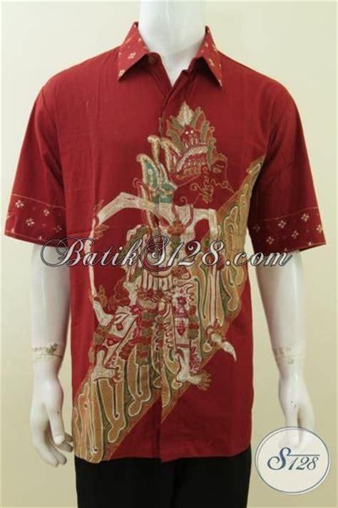 A Dress Big Jumbo Size Jersey Merah baju batik wayang baladewa warna merah big size jumbo 3l
