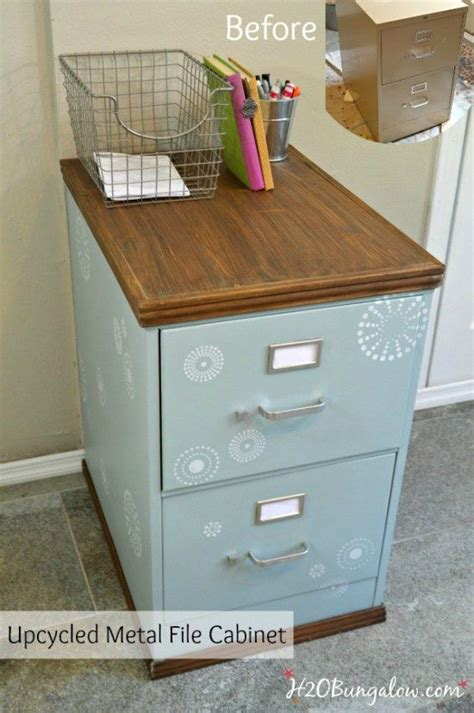 wood trimmed filing cabinet makeover helpful hints