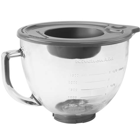 Bowl With Handle kitchenaid k5gb 5 qt glass mixing bowl with handle and