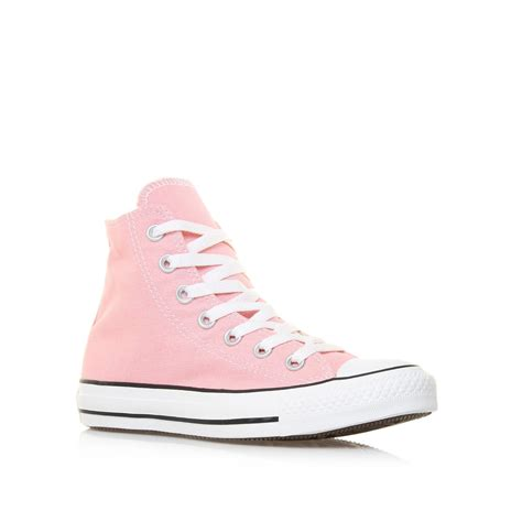 converse chuck all hi in pink pink canvas lyst