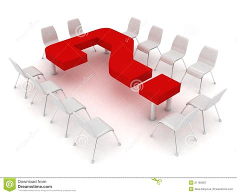 Conference Room Interior Design conference table in the form of a question mark an royalty