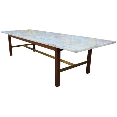 Brass And Marble Coffee Table Paul Mccobb Marble And Brass Coffee Table At 1stdibs