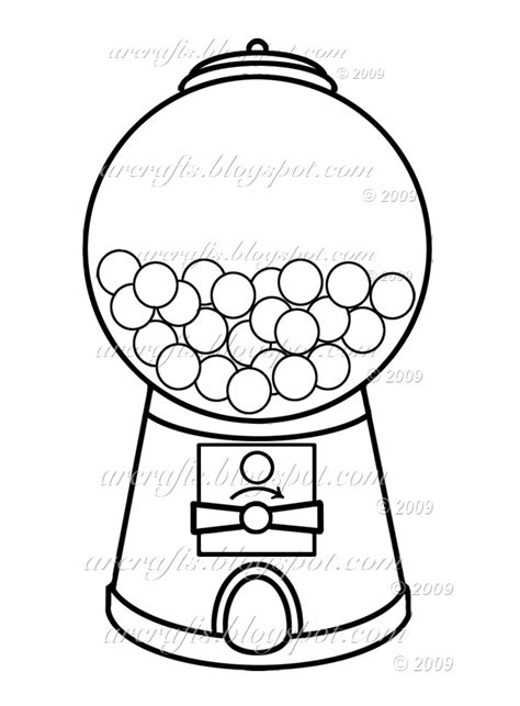 free coloring pages of bubble gum machine