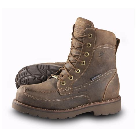 boots for mens work s carolina 174 8 quot aluminum toe waterproof moc toe work