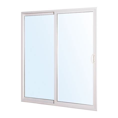 Lowes Patio Door Installation Shop Reliabilt 300 Series 70 75 In Clear Glass Vinyl Sliding Patio Door At Lowes