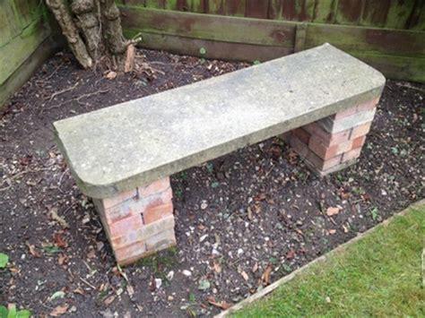 brick bench garden furniture decornotes