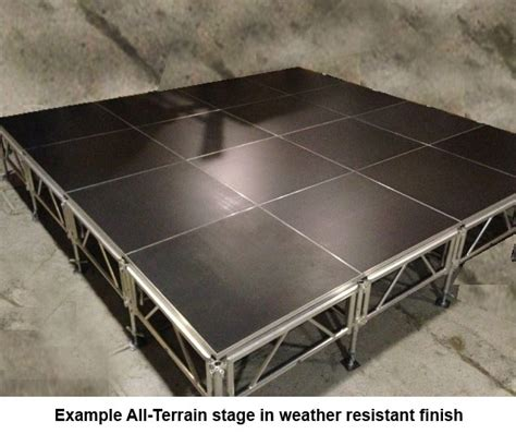 288 square feet 288 square foot all terrain stage kit 12 ft x 24 ft