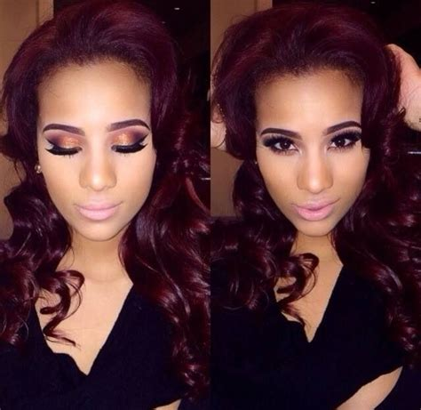 cyn santana burgundy hair cyn santana makeup mac and all things makeup pinterest