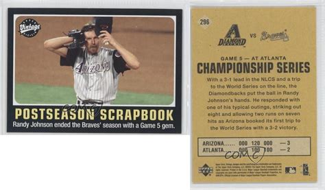 Diamondbacks Gift Cards - 2002 upper deck vintage 296 randy johnson arizona diamondbacks baseball card ebay