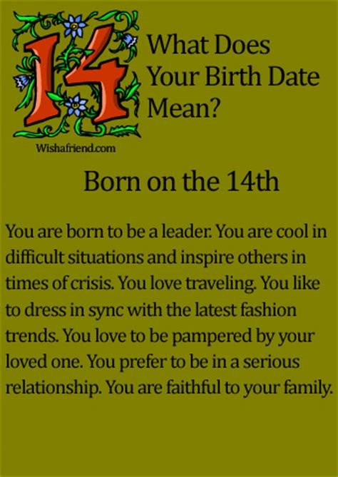 born friday characteristics what does your birth date mean born on the 14th