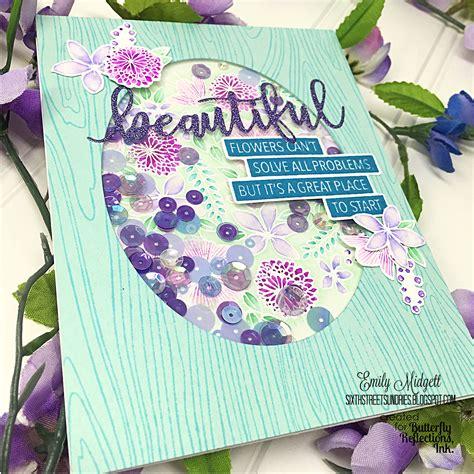 design flower center butterfly reflections ink beautiful flowers