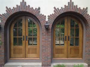 custom arched quarter sawn white oak entry doors by
