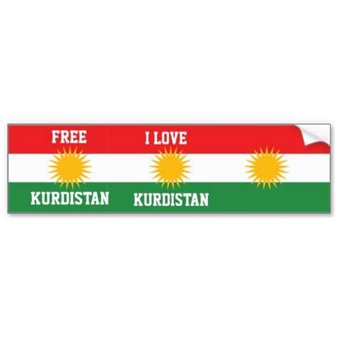 flags of the world kurdistan i love kurdistan and free kurdistan flag bumper sticker