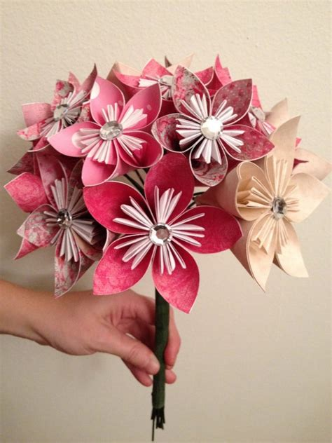 Make Origami Flower Bouquet - paper flower bouquets flower bouquets and paper flowers