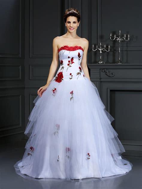 Robe De Mariée Marquise Manche Longue - robe de bal sans bretelles fleurs faites 224 la sans