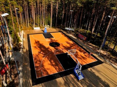 A Basketball Court In Your Backyard by Backyard Basketball Courts Yard Galleries