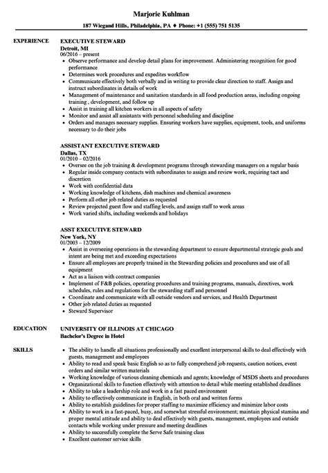 steward resume sle application letter for kitchen steward 28 images