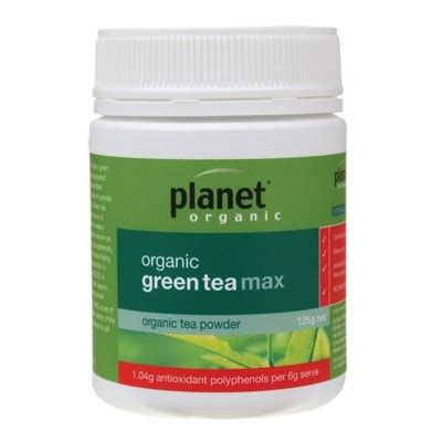 Planet Organic Detox Tea by Planet Organic Green Tea Max 125g Supplement Store