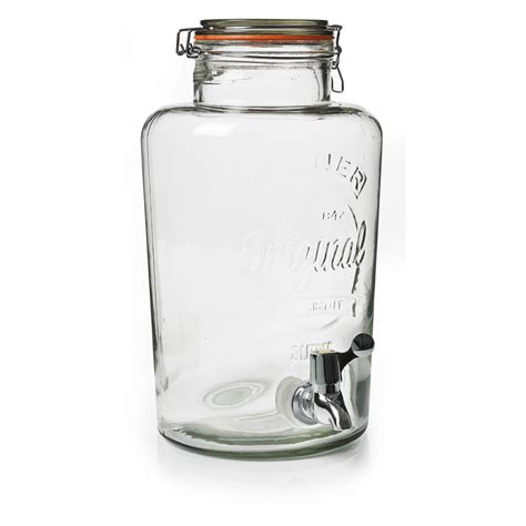 Water Pot Dispenser Kapasitas 8 Liter kilner cliptop drinks dispenser 8l at wilko