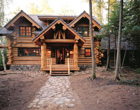 Handcrafted Log Cabins - hometime cabin handcrafted log home exteriors