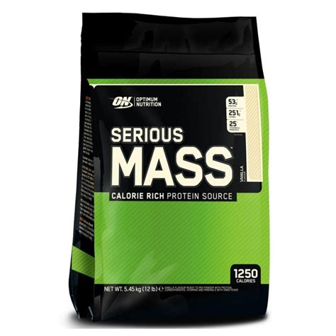 On Serious Mass Optimum Nutrition Serious Mass 5 45 Kg Protein Creatine