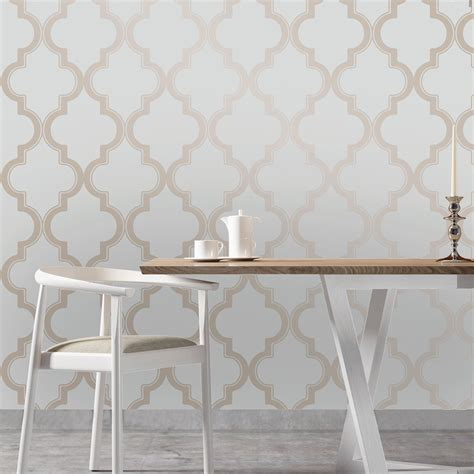 self sticking wallpaper marrakesh self adhesive wallpaper in bronze grey design by