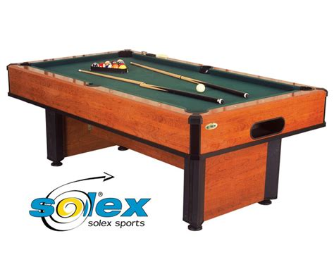 snooker and pool tables and equipment solex 8ft solex team