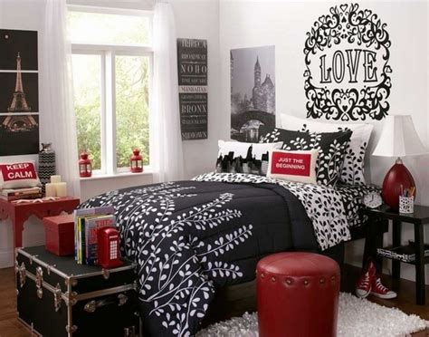 red black and white teenage bedroom 40 teen girls bedroom ideas how to make them cool and