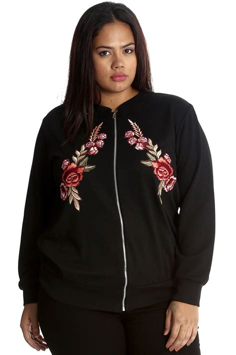 Bomber Flower New 1 new bomber jacket womens floral embroidery flower