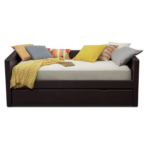 carey twin daybed  trundle brown  city furniture