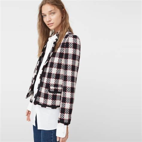 best tweed jacket mango check tweed jacket rank style
