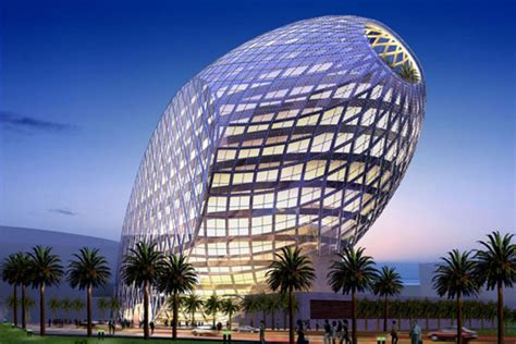 Egg shaped office building in Mumbai blends natural shape