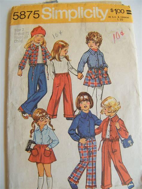 no pattern clothes vintage 1970s toddler girl wardrobe pattern skirt pants