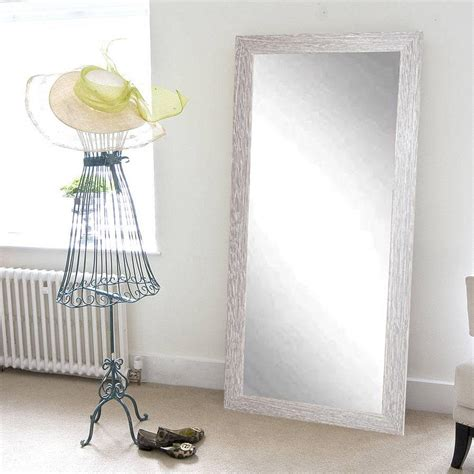 farmhouse barnwood length floor wall mirror bm036ts