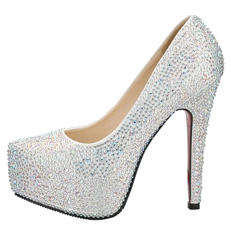 5 inches high heels fabulous sparkling 4 5 inches high heel platform wedding