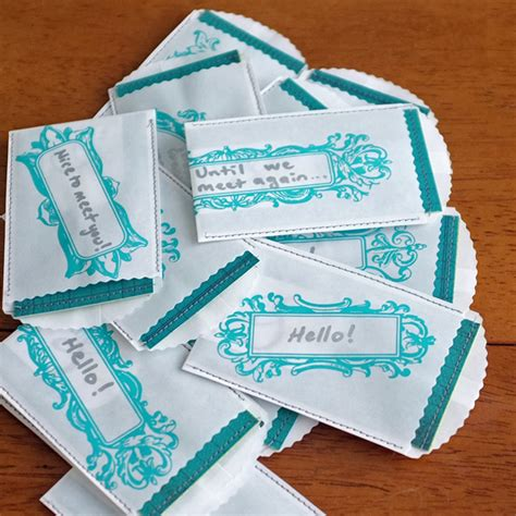Handmade Card Business - my handmade business cards teal and lime by jackie hernandez