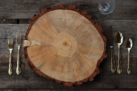 9 10 rustic wood tree slice charger wedding cake base or