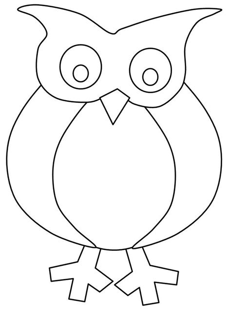 owl templates for craft owls owl templates owl crafts coloring home