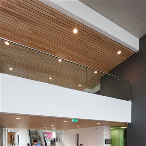 Douglas Ceilings by Douglas Provides Solid Wood Ceiling System For