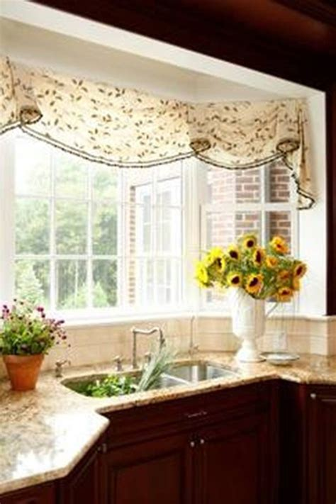 Kitchen Curtains For Bay Windows Inspiration Bay Window Treatments Impressive Astounding Kitchen Window Treatments Inspiration For Bay