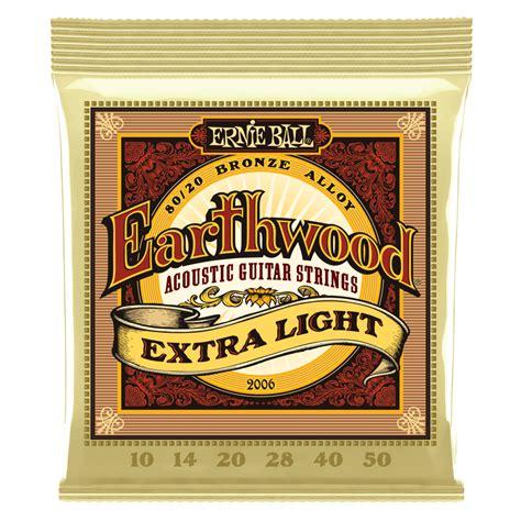 ernie ball earthwood light earthwood 80 20 bronze acoustic guitar strings ernie ball