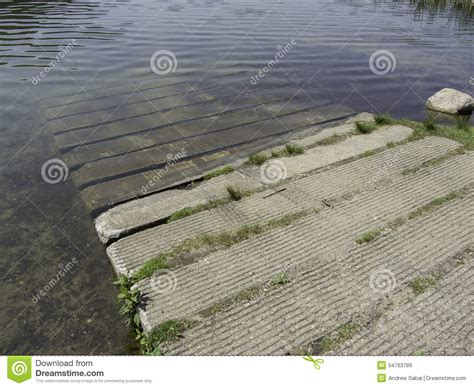boat launch mats concrete boat launch stock photo image 54763789