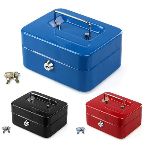 Safety Box Bank petty safety deposit box metal security steel money bank coin tray holder ebay
