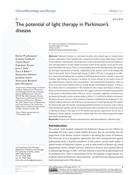 light therapy for parkinson s pdf the potential of light therapy in parkinson s disease