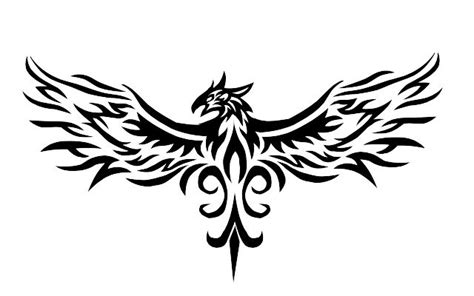 phoenix bird tribal tattoo tattoos png transparent tattoos png images