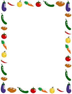 fruit and vegetable border   clipart panda free clipart