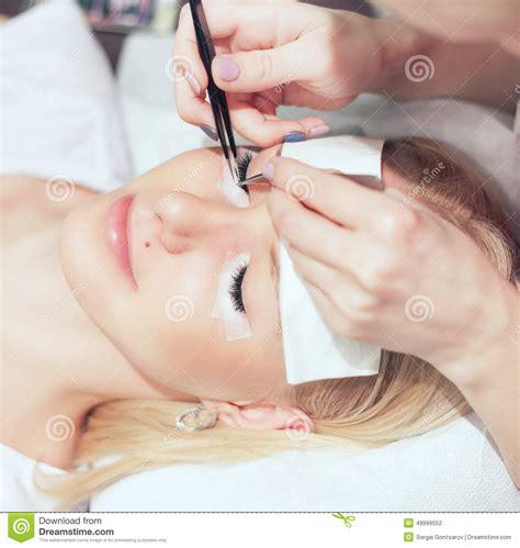 eyelash extensions for mature woman woman eye with long eyelashes royalty free stock image